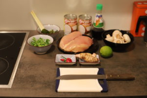 Tom Kha Gai Ingredients